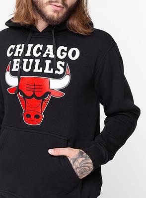 Худи утепленный Liberty - Chicago Bulls, Black, фото 2