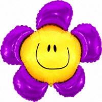 Фольга большая Цветок фиолетовый 901548