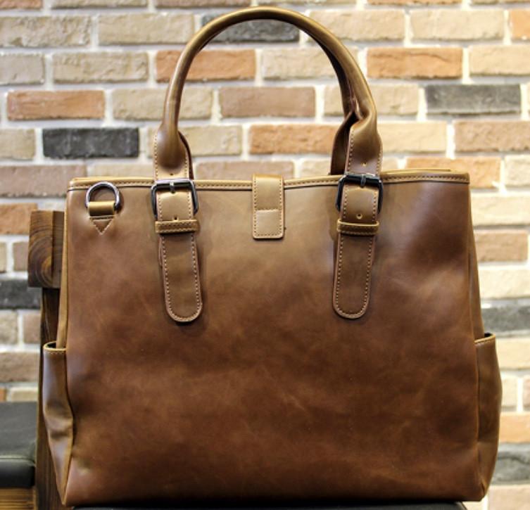 Мужская кожаная сумка. Модель 61216