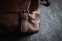 Мужская кожаная сумка. Модель 61223, фото 9