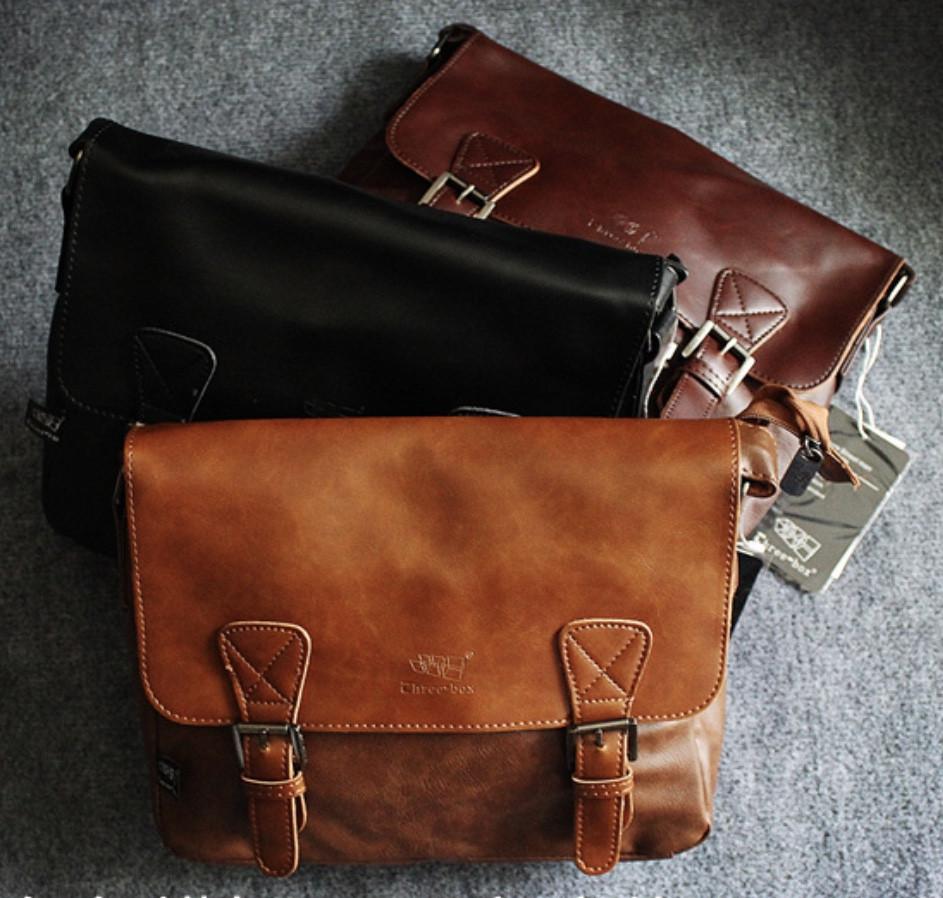 Мужская кожаная сумка. Модель 61223