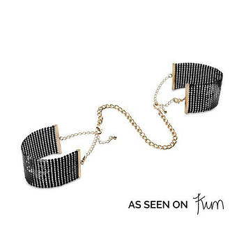 Прикраса-наручники Bijoux Indiscrets Desir Metallique Handcuffs - Black
