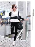 Спортивный костюм женский черно белый