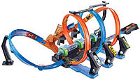 Оригинал. Трек Хот Вилс невероятные виражи, Hot Wheels Corkscrew Crash Track