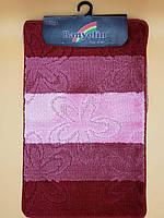 Набір килимків з ворсом для ванної, розовый (Турция) 50х80 і туалета 50х40
