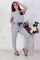 Спортивный летний женский костюм полубатал, батал р-ры 50-58