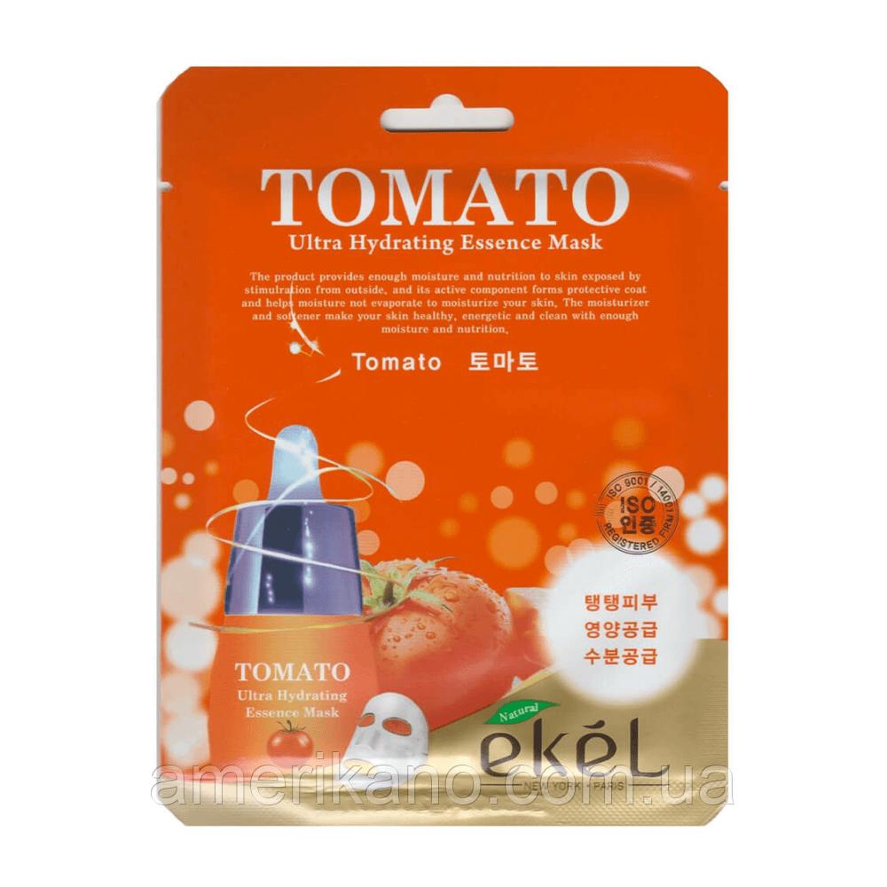 Регенерирующая тканевая маска с экстрактом томатов EKEL Ultra Hydrating Essence Mask Tomato
