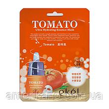 Регенеруюча тканинна маска з екстрактом томатів EKEL Ultra Hydrating Essence Mask Tomato