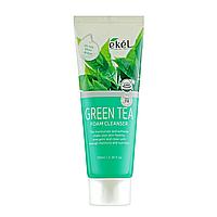 Очищающая пенка с экстрактом зеленого чая EKEL Green Tea Foam Cleanser, 100 мл