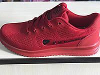 Кроссовки красные подростковые