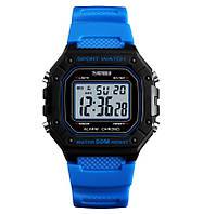 Skmei  1496 синие мужские спортивные часы, фото 1