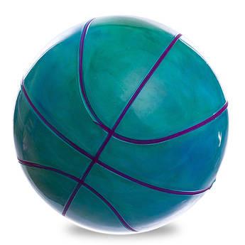 Мяч резиновый Баскетбольный LEGEND (резина, вес-200г, d-22см, радужный)