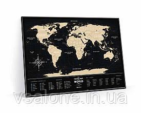 Скретч карта мира Travel Map Black World (англ) (тубус)