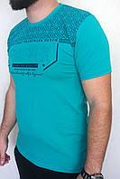 Стильная мужская футболка Турция   46р-52р  много цветов