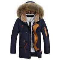 Куртка зимняя мужская синяя, фото 1