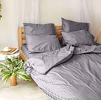 Комплект постельного белья евро страйп-сатин 100% хлопок