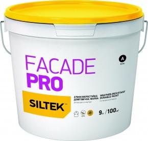 Краска фасадная атмосферостойкая долговечная Siltek Fasade Pro 9л FA