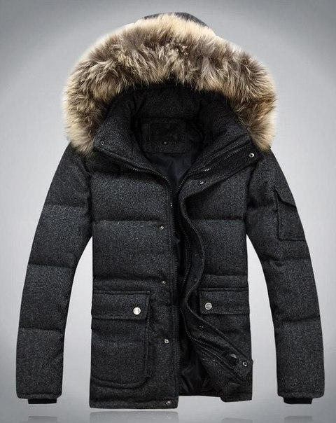 Куртка мужская зимняя серая