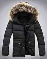 Куртка мужская зимняя серая, фото 1