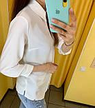 Рубашка Жін. 38(р) білий 120-1542 Туреччина Весна-C, фото 3