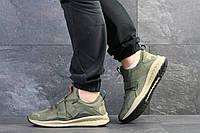 Кроссовки Puma, темно-зеленые, 46р. по стельке 29,5см