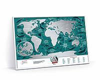 Скретч карта мира Travel Map Marine World (англ) (тубус), фото 1