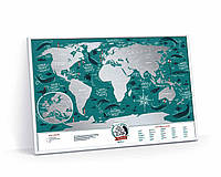 Скретч карта світу Travel Map Marine World (англ) (тубус), фото 1