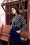Женская стильная блуза в крупный горох, фото 2