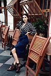 Женская стильная блуза в крупный горох, фото 3
