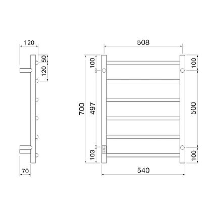 Полотенцесушитель Pax Salsa 3707-1 електрический, фото 2