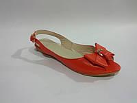 Кожаные женские коралловые сандалии 36р Olli