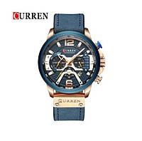 Годинник CURREN 8329 Chronograph Gold Blue 47mm (Quartz)., фото 1