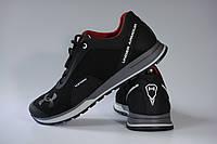 Кроссовки кожаные в стиле Under Armour Dash 233\1 Черные Размеры 40-45