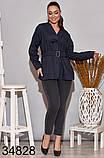 Стильная женская рубашка с поясом р.50-52,54-56, фото 3