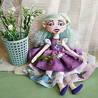 Мягкая Интерьерная Кукла текстильная ручной работы Лили. Лицо - роспись акрилом.
