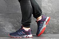 Кроссовки Adidas Marathon, темно синие с красным, 44р. по стельке 27,7см