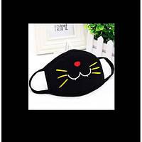 Маска защитная многоразовая аниме Котик цветной, фото 1