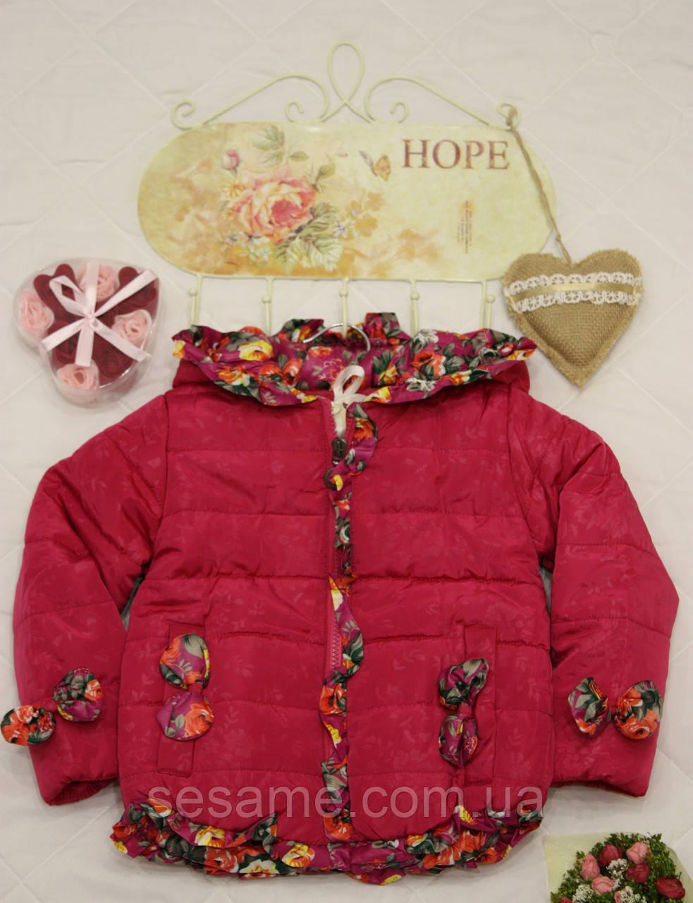 Куртка детская Бант бордовый