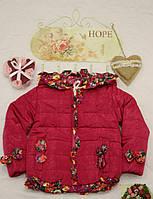 Куртка детская Бант бордовый , фото 1