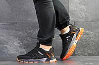 Кроссовки Adidas Marathon, черные с оранжевым, 46р. по стельке 28,3см