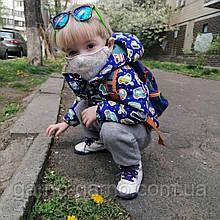 Многоразовая 3 слойная защитная  трикотажная тканевая маска, маска для лица многоразовая  детская или женская