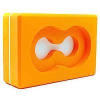 Блок для йоги (кирпич для йоги) с отверстием Record (EVA, р-р 23х15х7,5см, цвета в ассортименте)