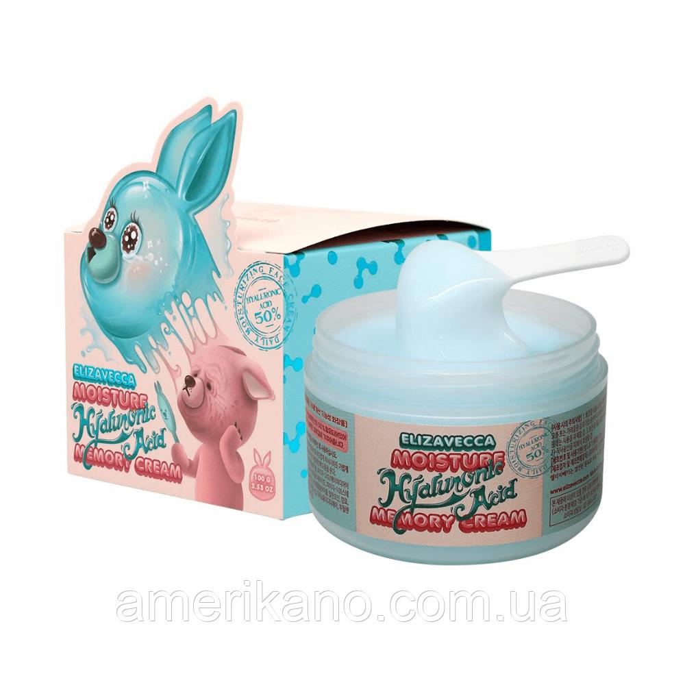 Гіалуронова крем-пудинг для особи ELIZAVECCA Moisture Hyaluronic Acid Memory Cream, 100 мл