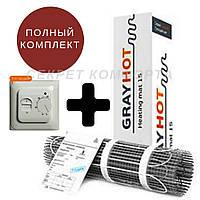 Теплый пол электрический 2,3 м2 GrayHot. Нагревательный мат под плитку, фото 1