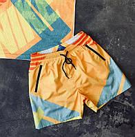 Мужские купальные шорты в стиле Nike желтые