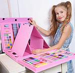 Набір для дитячої творчості у валізі з 208 предметів, художній набір для малювання з мольбертом