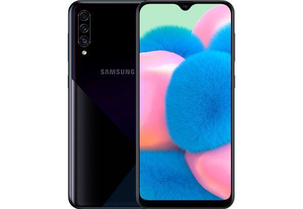 """Смартфон Samsung Galaxy A30S с тройной камерой и экранным сканером отпечатков пальцев 6,4"""" 3/32Gb черный"""