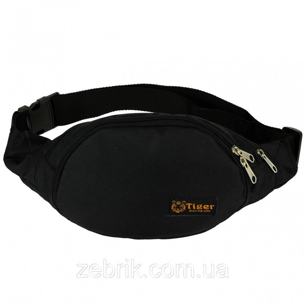 Бананка, сумка на пояс, сумка через плечо TIGER черная