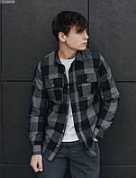 Чоловіча сорочка Staff gray & black