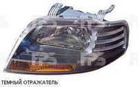 Фара левая эл. 11.05- (темный отражатель) Chevrolet Aveo 04-06 (T200)